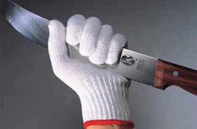 Victorinox - Swiss Army 81814 Large Cut Resistant Glove w/ White Wrist Band, 10-Gauge, Gray