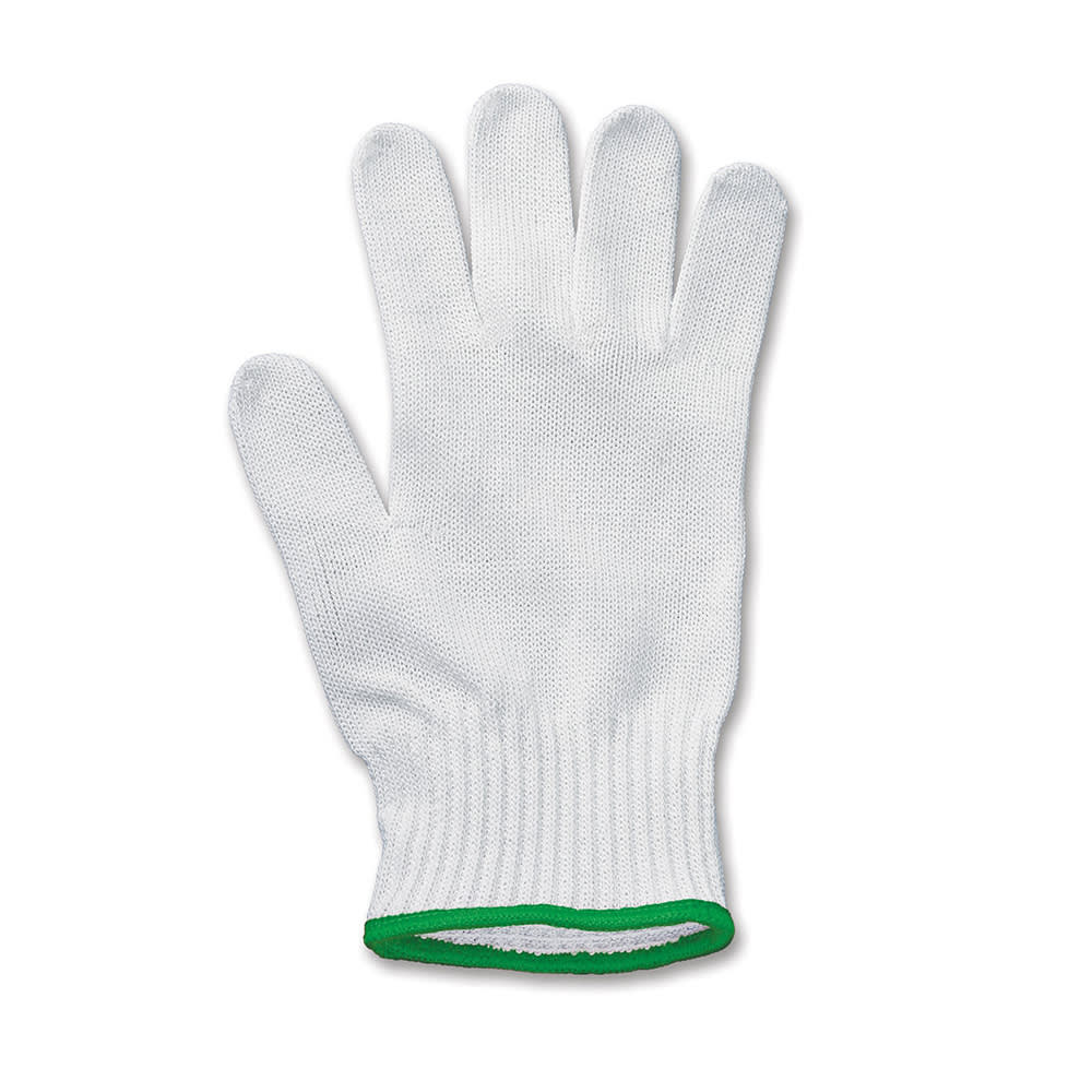 Victorinox - Swiss Army 83003 Medium Mesh Cut Resistant Glove w/ Green Wrist Band, Gray
