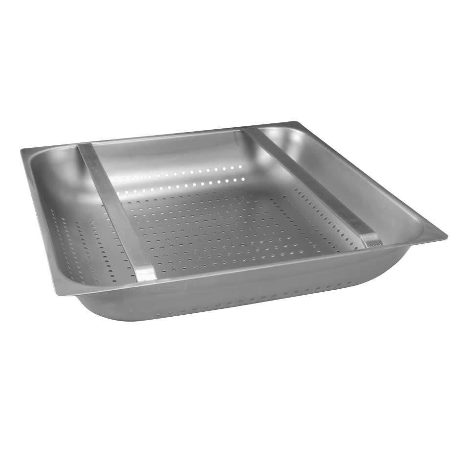 "Franklin Machine 102-1151 Pre-Rinse Basket for 20x20 Rack or 21.75x21.75"" Sink, 4"" Diameter"