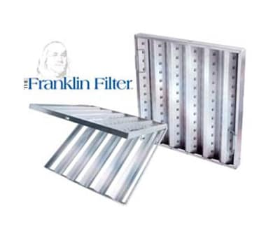 "Franklin Machine 129-1111 Hinged Baffle Filter, 16x20"", Stainless"