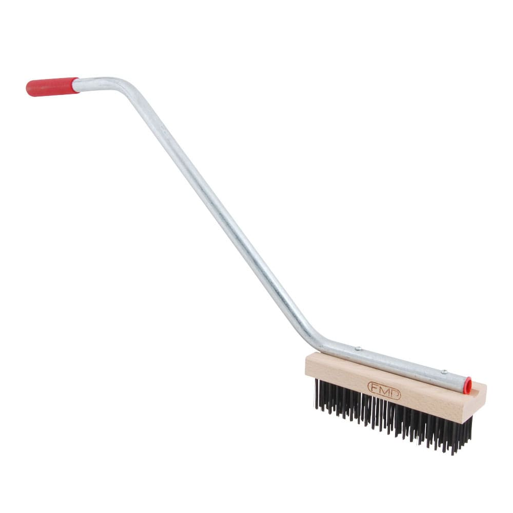 "Franklin Machine 133-1174 Broiler Grill Brush w/ 24"" Handle, Heavy Duty Medium Bristles"