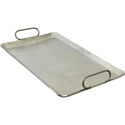 "Franklin Machine 133-1626 Lift-Off Griddle, Fits Two Burners, 12"" x 20"", Steel"