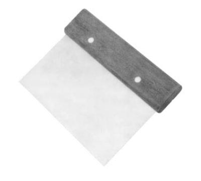 "Franklin Machine 1371022 Dough Scraper, 5-3/4"" x 4-1/2"", SS Blade, Hardwood Handle"