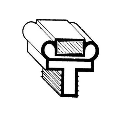 "Franklin Machine 145-1034 Push-In Drawer Gasket for Randell Refrigerators & Freezers, 7.31"" x 29.87"""