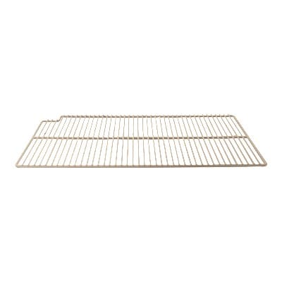 "Franklin Machine 148-1068 Left-Side Epoxy-Coated Wire Shelf for Refrigerators & Prep Tables - 16"" x 27.5"", White"
