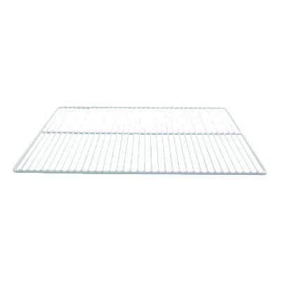 "Franklin Machine 148-1081 Epoxy-Coated Wire Shelf for Refrigerators & Prep Tables - 16"" x 23.25"", White"