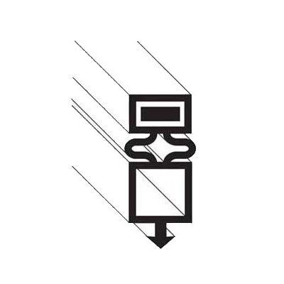 """Franklin Machine 148-1089 Drawer Gasket for Refrigerators & Refrigerated Merchandisers, 23.5"""" x 50.75"""""""