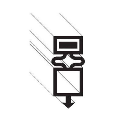 "Franklin Machine 148-1090 Drawer Gasket for Refrigerators, 24.75"" x 26.13"""