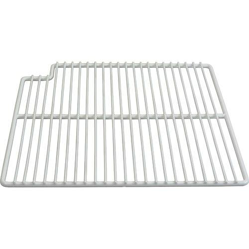 "Franklin Machine 148-1161 Left-Side Wire Shelf for Prep Tables - 15.56"" x 16"", White"