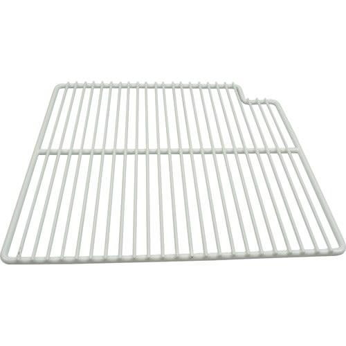 "Franklin Machine 148-1162 Right-Side Wire Shelf for Prep Tables - 15.56"" x 16"", White"