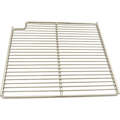 "Franklin Machine 148-1164 Left-Side Wire Shelf for Prep Tables - 15.56"" x 16"", Stainless"