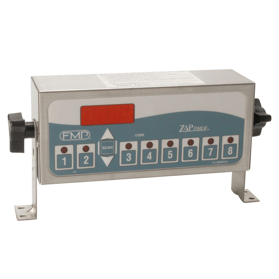 Franklin Machine 151-1044 Electric Timer - 8 Product Capacity, LED Display, Stainless, 120v
