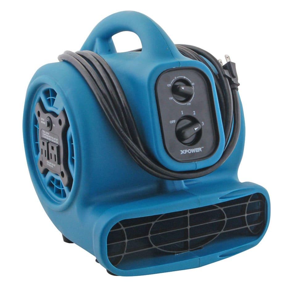 Franklin Machine 159-1170 Mini Floor Air Dryer, 3 Speed, 1/5 HP, 115v