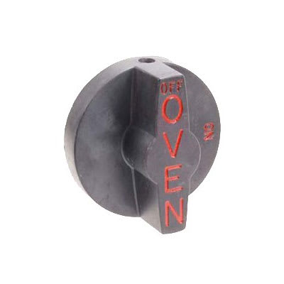 Franklin Machine 166-1068 Valve Knob for Southbend Ovens, Ranges, & Broilers - Plastic, Black