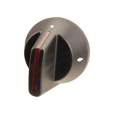 "Franklin Machine 166-1149 2.5"" Open Burner Knob for Southbend Ovens & Ranges - Plastic, Black"
