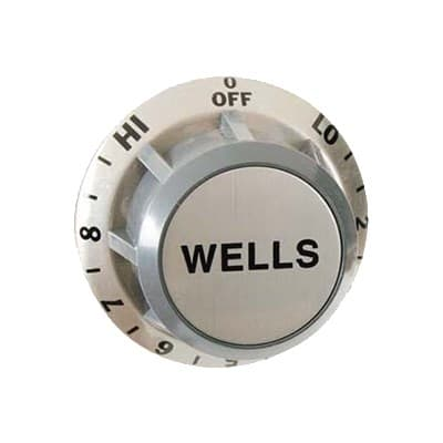 "Franklin Machine 173-1044 2.38"" Infinite Control Dial for Wells Charbroilers, Hotplates, & Food Warmers - Plastic, Gray"