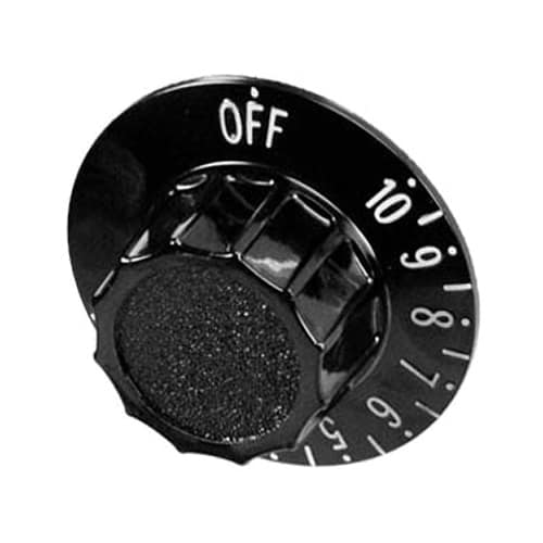 Franklin Machine 183-1066 Thermostat Dial for Roundup Hot Dog Grills & Toasters - Plastic, Black