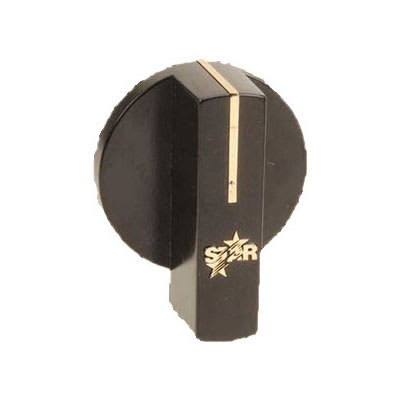 Franklin Machine 218-1284 Temperature Control Knob for Star Griddles, Hotplates, & Charbroilers - Black/Gold