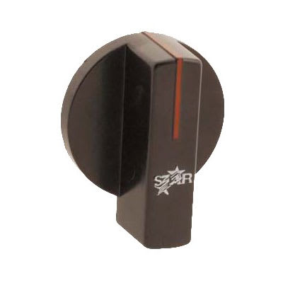 "Franklin Machine 218-1291 2.25"" Thermostat Knob for Star 515TGD, 524TGD, 536TGD, & 548TGD Griddles - Plastic, Black"