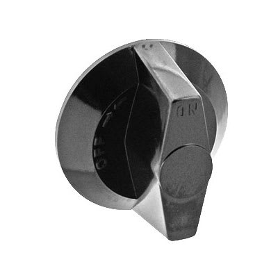 "Franklin Machine 220-1213 2.5"" Gas Valve Knob for Wolf Ovens, Ranges, & Griddles - Plastic, Black"