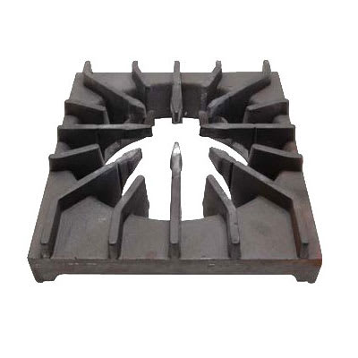 "Franklin Machine 220-1411 Front Burner Grate for Wolf VH Series Ovens - 14.18"" x 11.87"", Cast Iron"