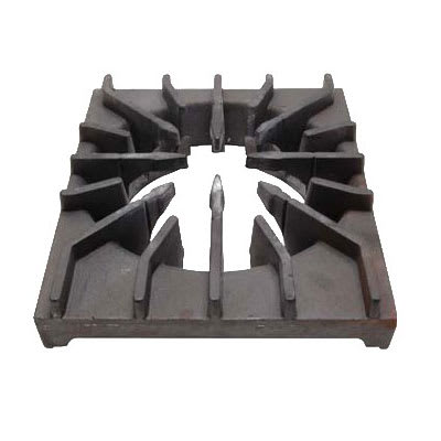 "Franklin Machine 220-1412 Rear Burner Grate for Wolf VH Series Ovens - 12.5"" x 11.75"", Cast Iron"