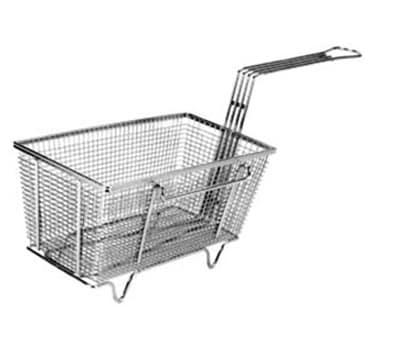 "Franklin Machine 225-1009 Fryer Basket w/ Uncoated Handle & Left Hook, 12.125"" x 6.375"" x 5.375"""