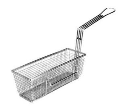 "Franklin Machine 225-1012LH Fryer Basket w/ Uncoated Handle & Left Hook, 11.25"" x 4"" x 4"""
