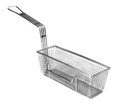 "Franklin Machine 225-1013RH Fryer Basket w/ Uncoated Handle & Right Hook, 11.25"" x 4"" x 4"""