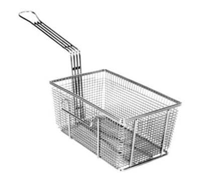 "Franklin Machine 225-1015 Fryer Basket w/ Uncoated Handle & Right Hook, 10.75"" x 6.75"" x 5"""