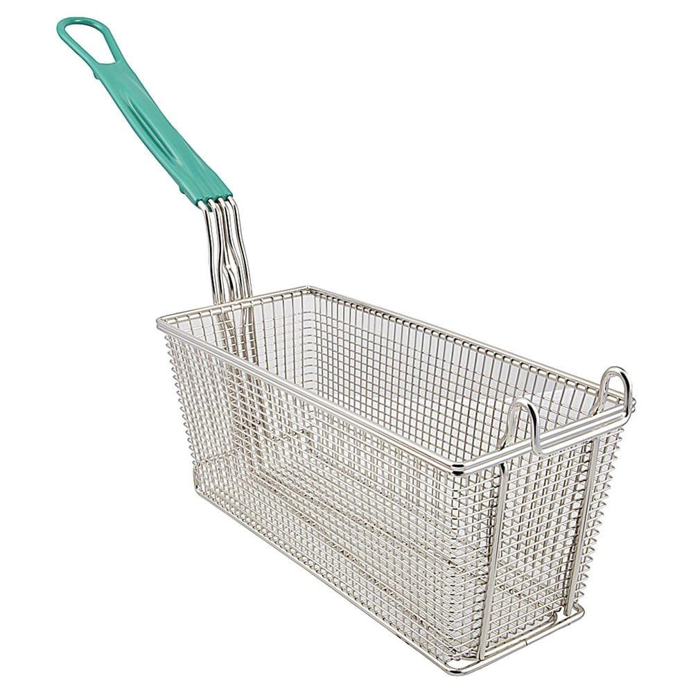 "Franklin Machine 225-1052 Fryer Basket w/ Coated Handle & Front Hook, 13.25"" x 5.75"" x 5.75"""