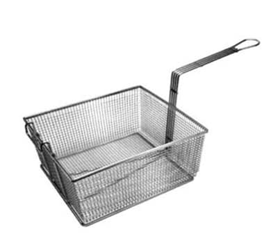 "Franklin Machine 225-1053 Fryer Basket w/ Uncoated Handle & Front Hook, 16.75"" x 17.5"" x 6'"