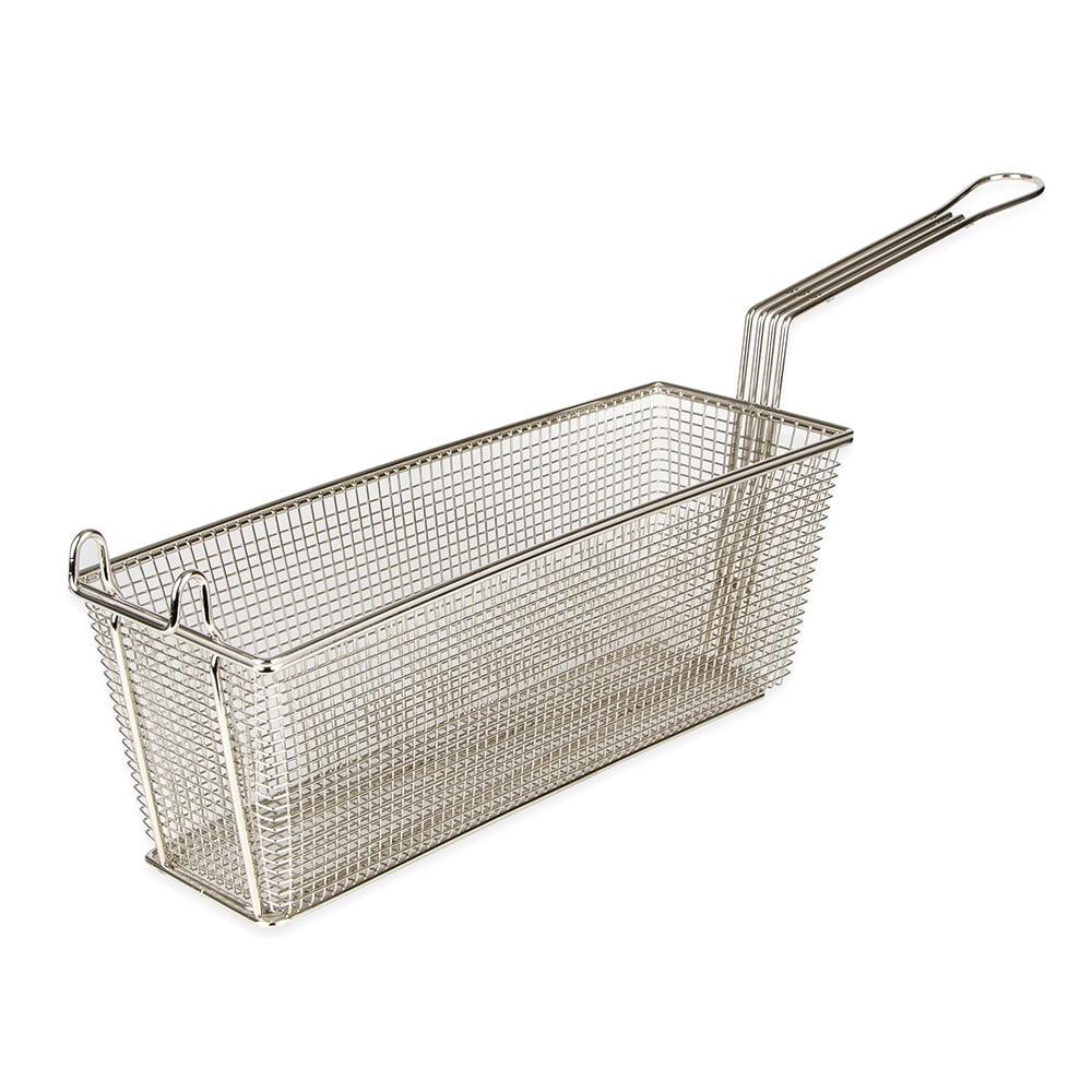 "Franklin Machine 225-1054 Fryer Basket w/ Uncoated Handle & Front Hook, 17.125"" x 5.75"" x 6"""