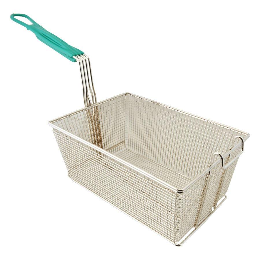 "Franklin Machine 225-1066 Fryer Basket w/ Coated Handle & Front Hook, 13.25"" x 9.25"" x 6"""