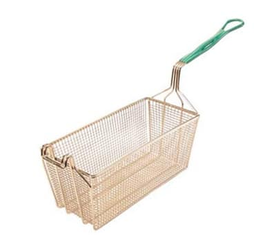 "Franklin Machine 225-1071 Fryer Basket w/ Coated Handle & Front Hook, 17.125"" x 5.75"" x 6"""