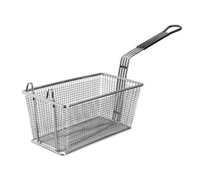 "Franklin Machine 225-1072 Fryer Basket w/ Coated Handle & Front Hook, 17.125"" x 8.375"" x 6"""