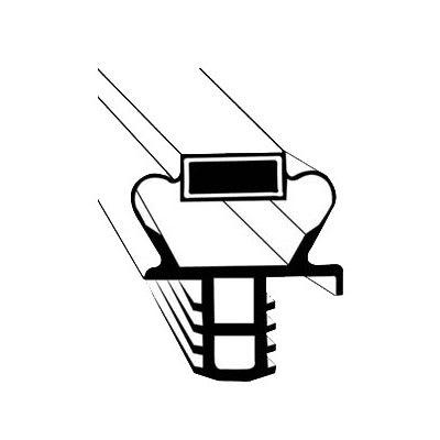 "Franklin Machine 235-1078 Push-In Gasket for Delfield Refrigerators, 24.81"" x 27.5"""