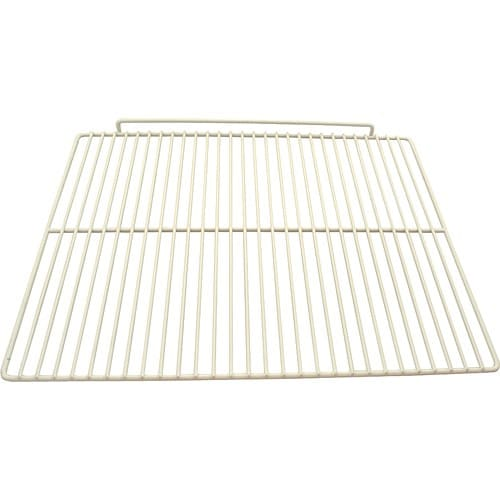 "Franklin Machine 237-1218 Epoxy-Coated Wire Shelf for Beverage Air SP27 Models - 17.5"" x 22"", White"