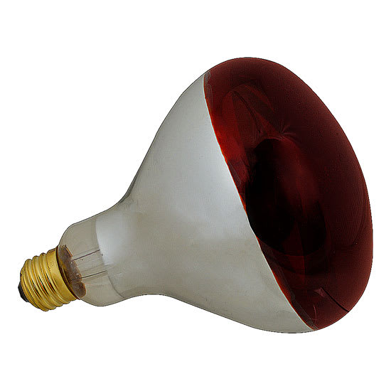 Franklin Machine 253-1122 Infrared Bulb - Non-Coated, Red 250W