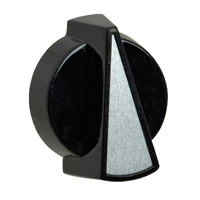 "Franklin Machine 260-1001 1.31"" Control Knob for Vollrath Food Warmers - Plastic, Black"