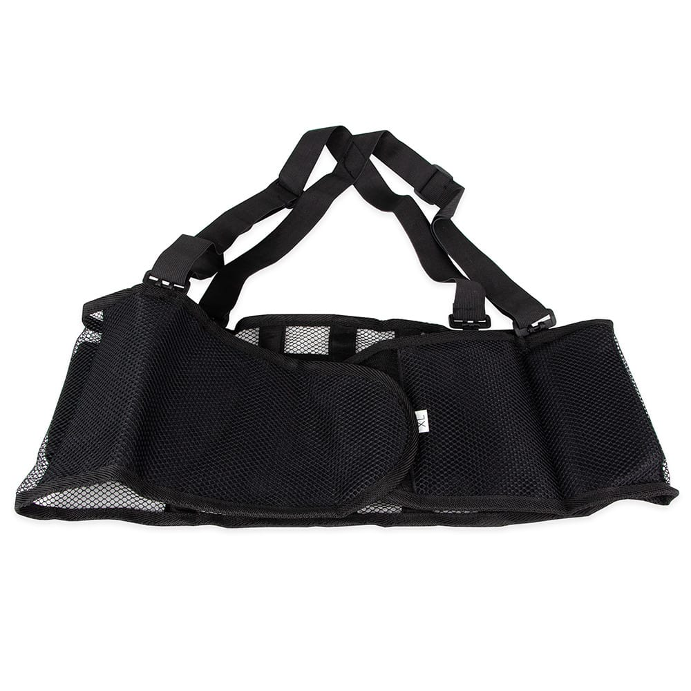 "Franklin Machine 280-1251 X-Large Back Support Belt w/ Shoulder Straps - Fits 45"" - 49"" Hips, Black"