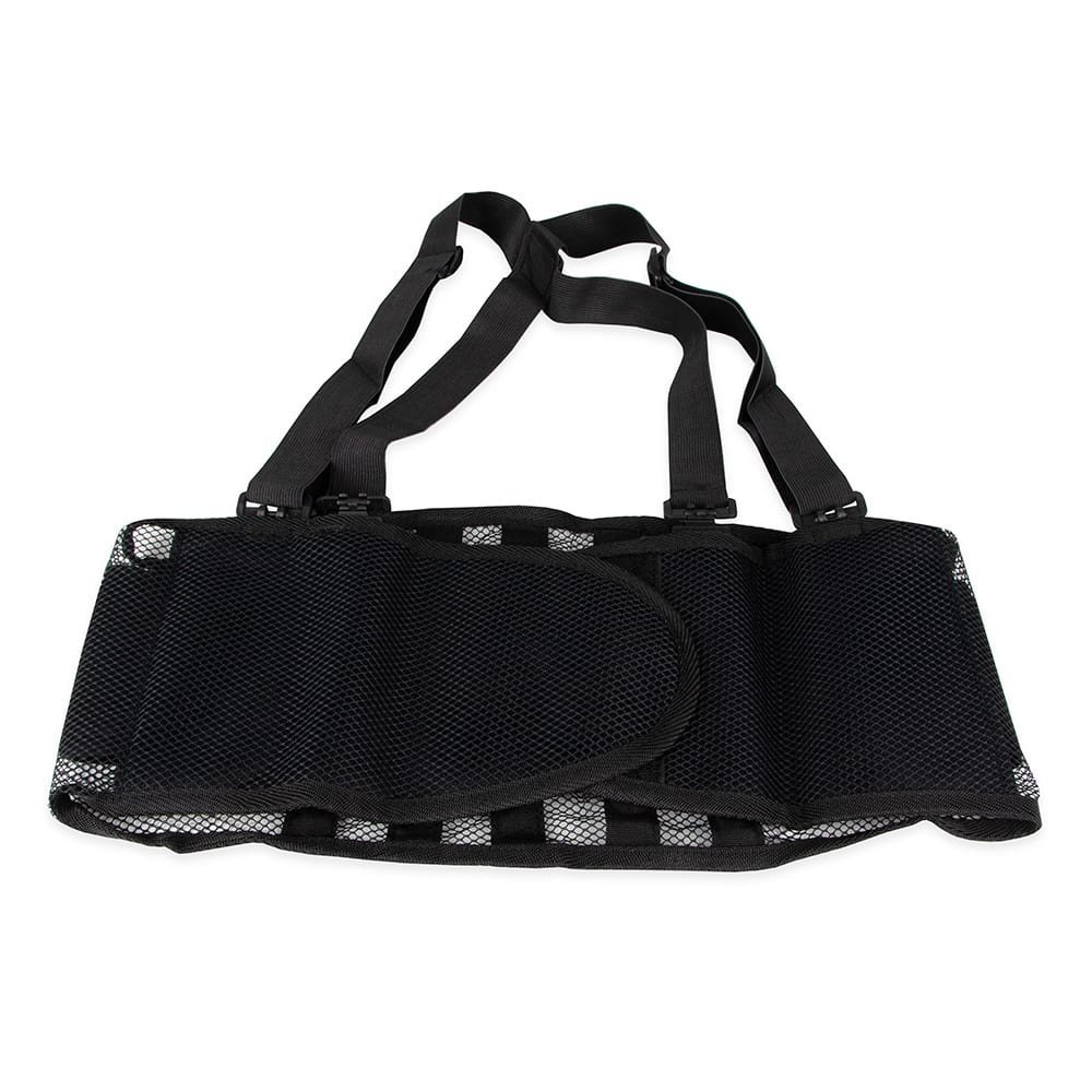 "Franklin Machine 280-1252 Large Back Support Belt w/ Shoulder Straps - Fits 39"" - 44"" Hips, Black"