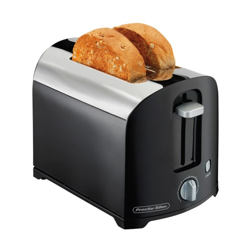 Hamilton Beach 22622 2-Slice Toaster w/ Shade Selector Dial, Black/Chrome