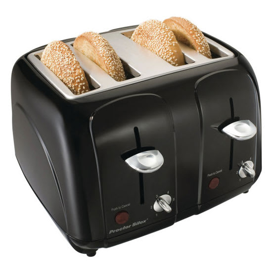 Hamilton Beach 24201 4-Slice Toaster w/ Shade Selector Dials, Black