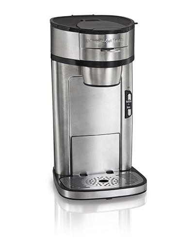 Hamilton Beach 49981 Scoop® Single Cup Drip Coffee Maker w/ Auto Shut-off, Stainless