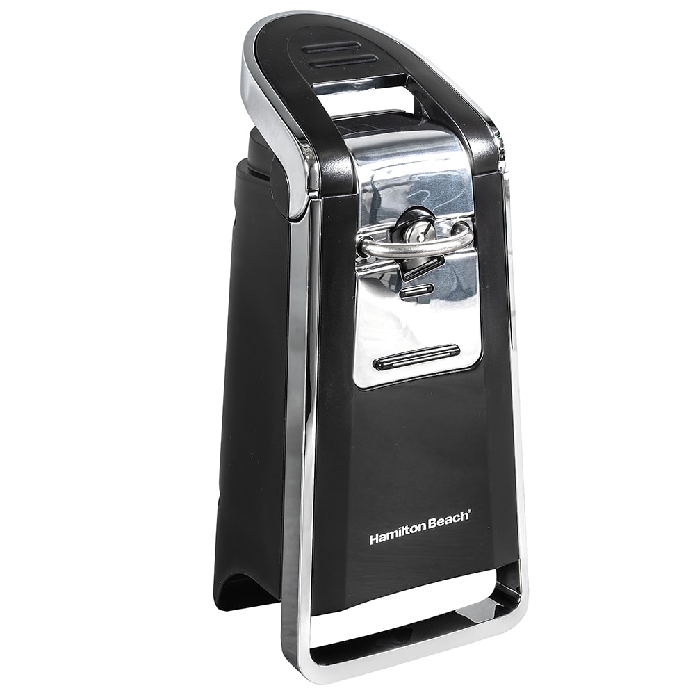 Hamilton Beach 76606Z Can Opener w/ Easy-Touch Opening Lever - Black/Chrome, 120v