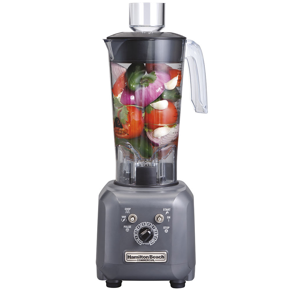 Hamilton Beach HBF500-CE Stackable Food Blender w/ 1.9-liter Polycarbonate Container, Export