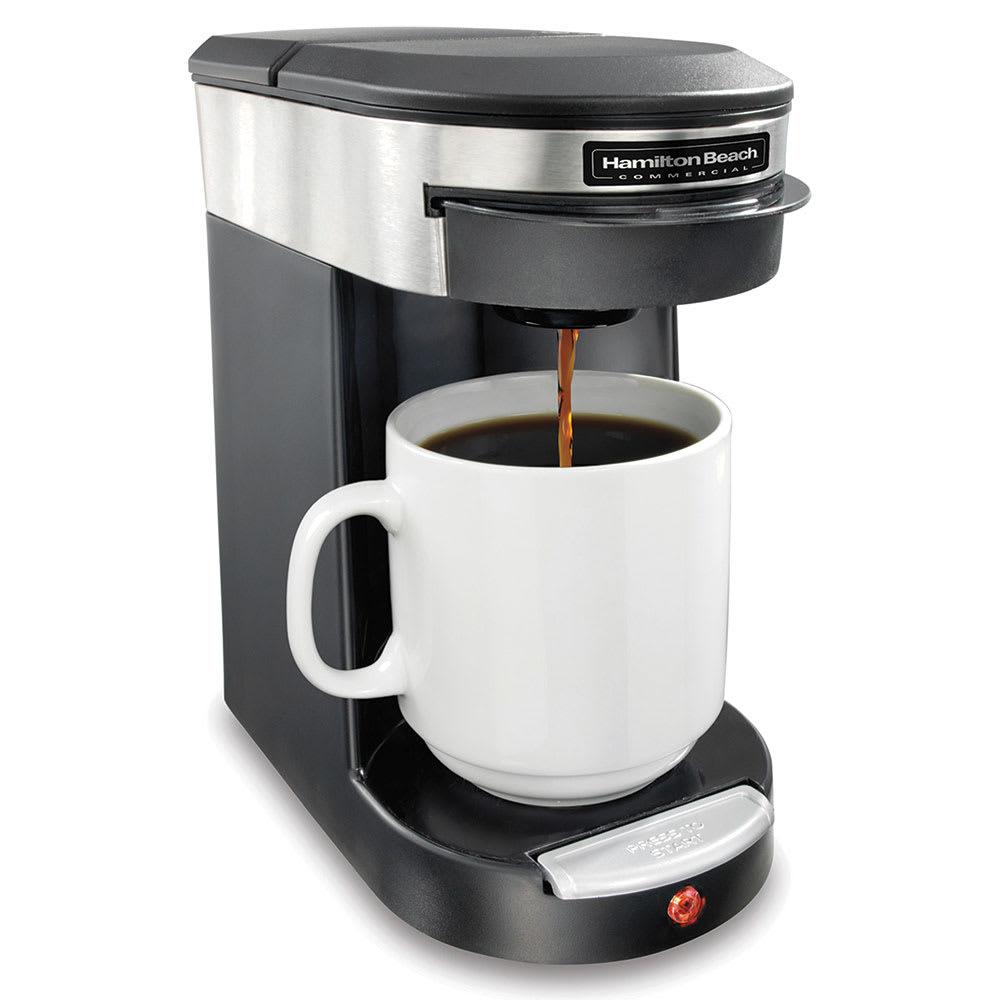 Hamilton Beach HDC200S 1 Cup Pod Coffee Maker - Black/Stainless, 120v