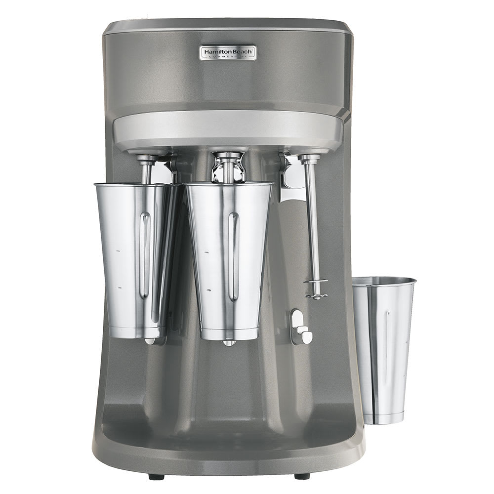 Hamilton Beach HMD400-CE Triple Spindle Drink Mixer, Cup Activator Switch, 3 Speeds, 220 240v/1ph