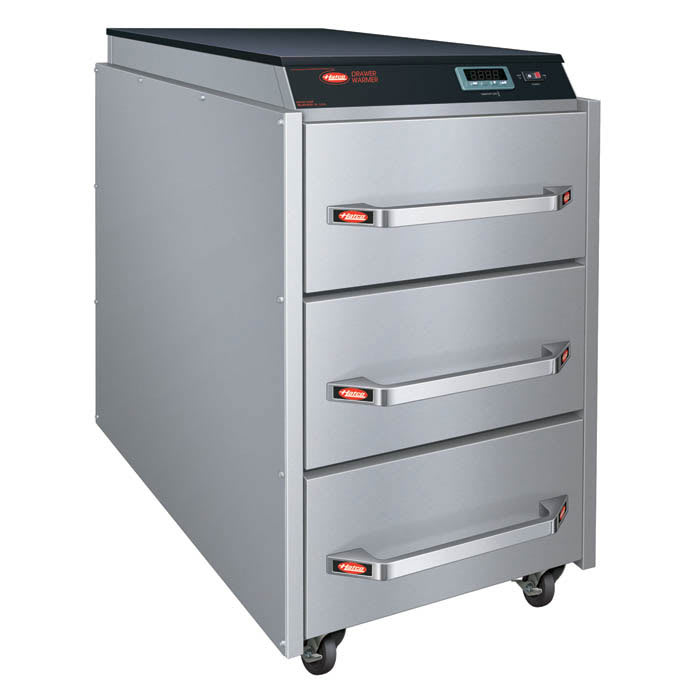 Hatco CDW-3N Freestanding 3-Drawer Warmer w/ Programmable Digital Controller